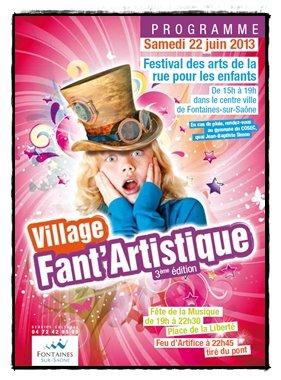 Village fant'artistique de Fontaines-sur-Saône 2013